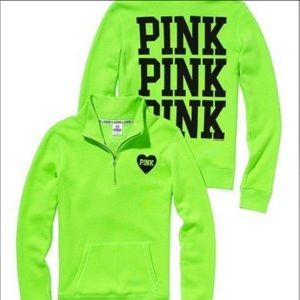 2/$40PINK Victorias Secret green pullover sweater